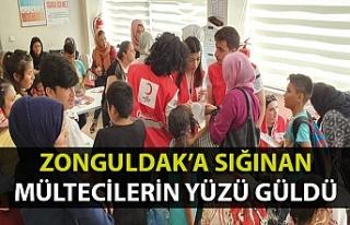Zonguldak'ta 400 mültecinin yüzü güldü
