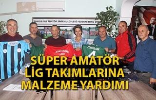 12 Süper Amatör Lig takımına malzeme yardımı...