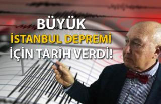 'Büyük İstanbul depremi' için tarih verdi!