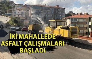 İki mahallede asfalt çalışmaları başladı; sürücüler,...