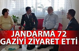 Jandarma 72 gaziyi ziyaret etti