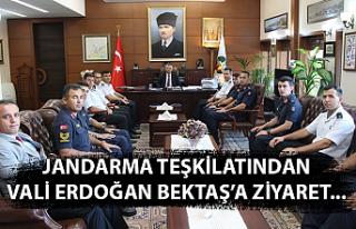 Jandarma teşkilatından Vali Erdoğan Bektaş'a...