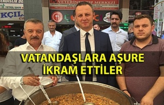 Milletvekili Türkmen ve Belediye Başkanı Alan Aşure...