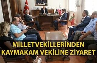 Milletvekillerinden yeni Kaymakam Vekiline 'hoş...