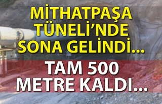 Mithatpaşa Tüneli'nde sona gelindi... Tam 500...