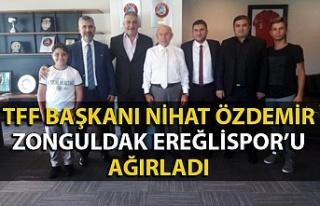 Zonguldak Ereğlispor TFF Başkanı Nihat Özdemir'in...
