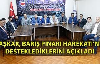''Barış Pınarı Harekatı'nı destekliyoruz!''