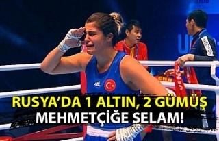 Milli boksör Busenaz Sürmeneli Dünya şampiyonu...