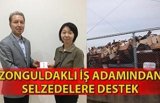 Zonguldaklı işadamından selzedelere destek