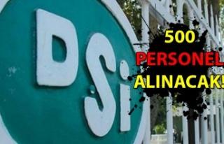 500 personel alınacak...
