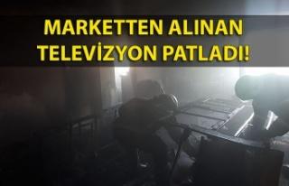 Marketten alınan televizyon patladı
