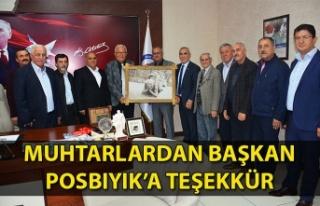 Muhtarlardan Başkan Posbıyık'a Teşekkür...