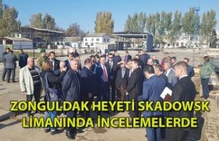 Zonguldak Heyeti Skadowsk Limanında İncelemelerde
