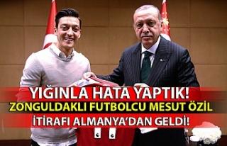 Zonguldaklı futbolcu Mesut Özil itirafı Almanya'dan...