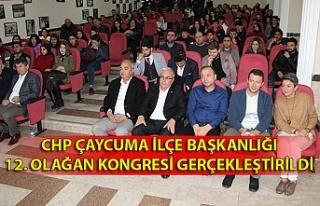 CHP Çaycuma İlçe Başkanlığı 12. Olağan Kongresi...