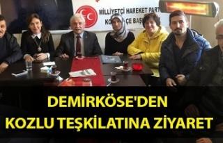 Demirköse'den Kozlu teşkilatına ziyaret