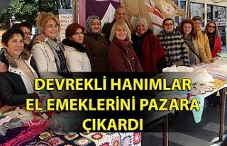 Devrekli hanımlar el emeklerini pazara çıkardı