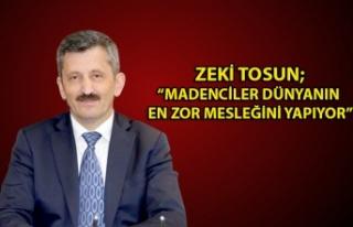 Madenciler gününü kutlayan AK Parti İl başkanı...