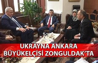 UKRAYNA ANKARA BÜYÜKELÇİSİ ZONGULDAK'TA