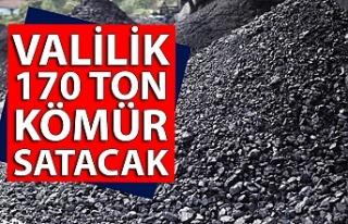 Valilik 170 ton kömür satacak
