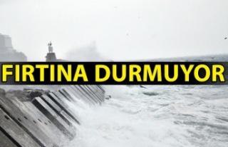 Zonguldak'ta fırtına