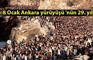 4-8 Ocak Ankara yürüyüşü 'nün 29. yılı