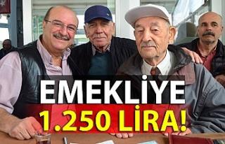 Emekliye 1.250 lira!