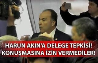 Harun Akın'a delege tepkisi! Konuşmasına izin...