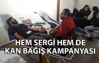 Hem sergi hem de kan bağış kampanyası