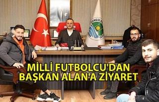 Milli futbolcu'dan başkan alan'a ziyaret