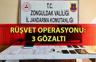 Rüşvet operasyonu: 3 gözaltı
