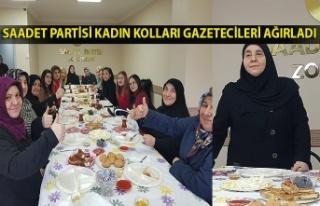 Saadet Partisi kadın kolları gazetecileri ağırladı