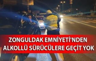 Zonguldak Emniyeti'nden alkollü sürücülere...