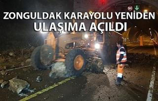 Zonguldak karayolu yeniden ulaşıma açıldı
