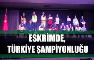 Eskrimde, Türkiye şampiyonluğu