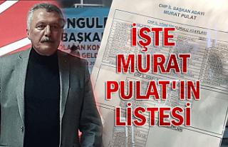 İşte Murat Pulat'ın listesi