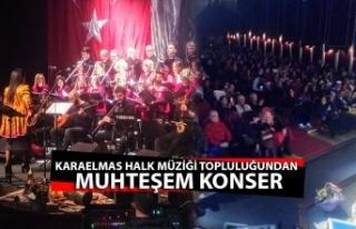 Karaelmas halk müziği topluluğundan muhteşem konser