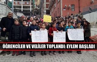 Öğrenciler ve veliler toplandı: Eylem başladı