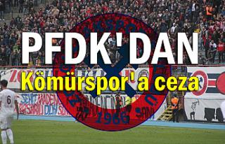 PFDK'DAN Kömürspor'a ceza
