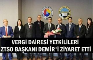 Vergi Dairesi Yetkilileri ZTSO Başkanı Demir'i...