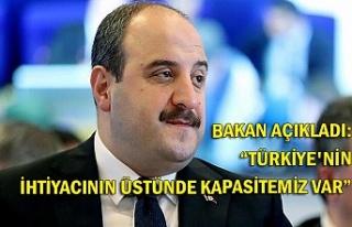"""Bakan açıkladı: """"Türkiye'nin ihtiyacının..."""