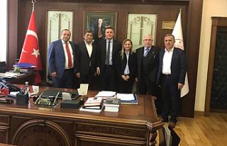 Meclis üyelerinden Yüksel Kocaman'a ziyaret