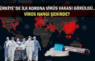 Türkiye'de ilk korona virüs vakası görüldü......