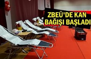 ZBEÜ'de kan bağışı başladı