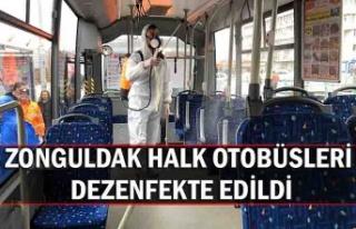 Zonguldak Halk Otobüsleri dezenfekte edildi