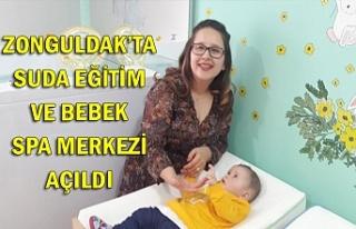 Zonguldak'ta suda eğitim ve bebek spa merkezi açıldı