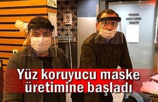 Yüz koruyucu maske üretimine başladı