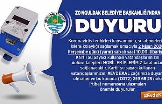Zonguldak Belediyesi su açıklaması
