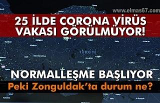 25 ilde corona virüs vakası görülmüyor