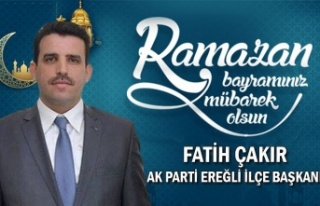 Ak Parti Ereğli İlçe Başkanı Fatih Çakır Bayram...